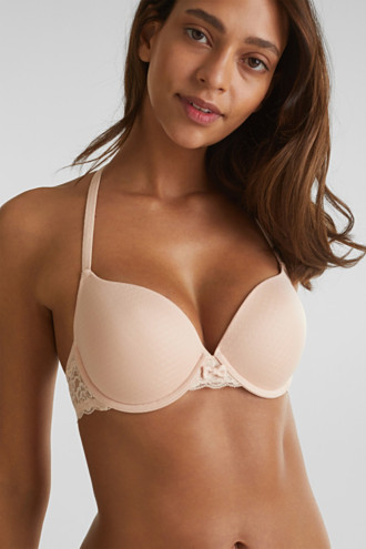 Padded underwire bra with texture