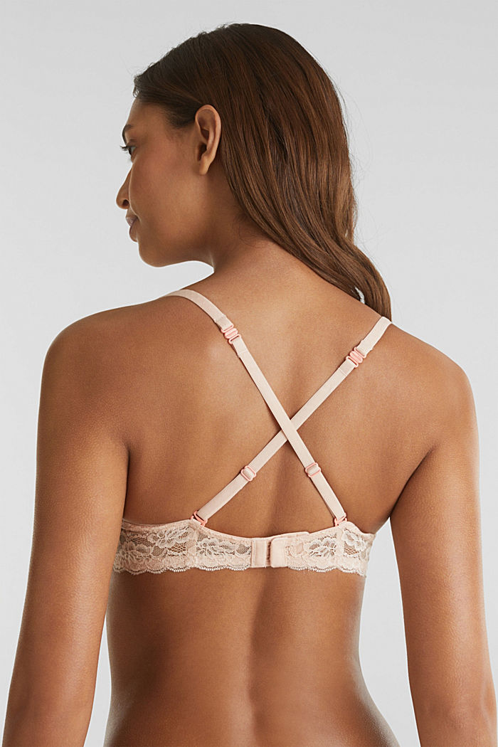 Padded underwire bra with texture, NUDE, detail image number 5