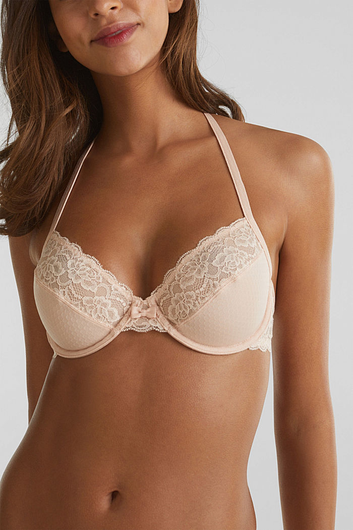 Unpadded underwire bra with texture, NUDE, detail image number 3