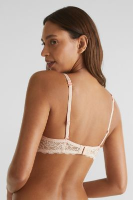 Unpadded underwire bra with texture, NUDE, detail