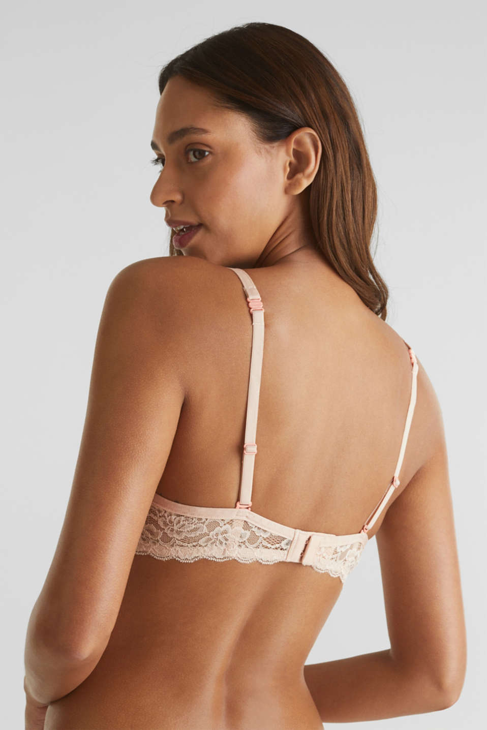 Unpadded underwire bra with texture, NUDE, detail image number 4