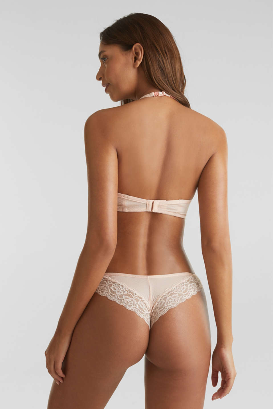 Padded non-wired bra with texture, NUDE, detail image number 1