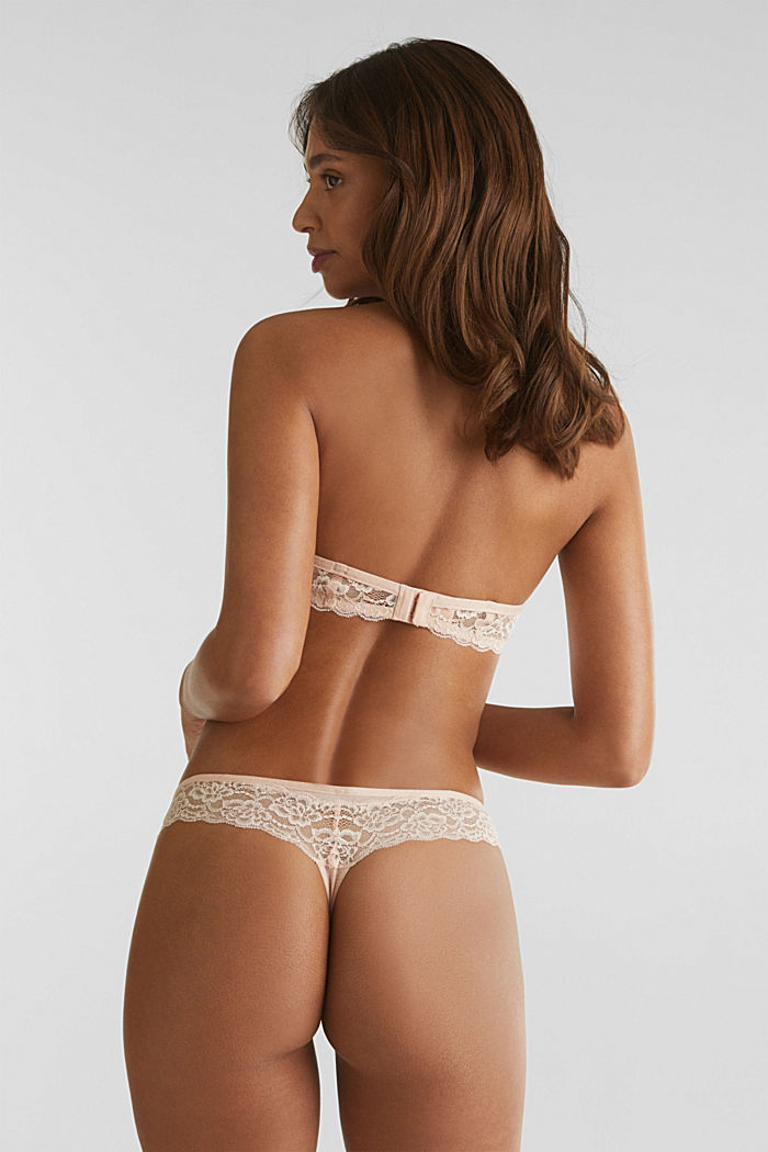 Hipster thong with a honeycomb texture, NUDE, detail image number 2