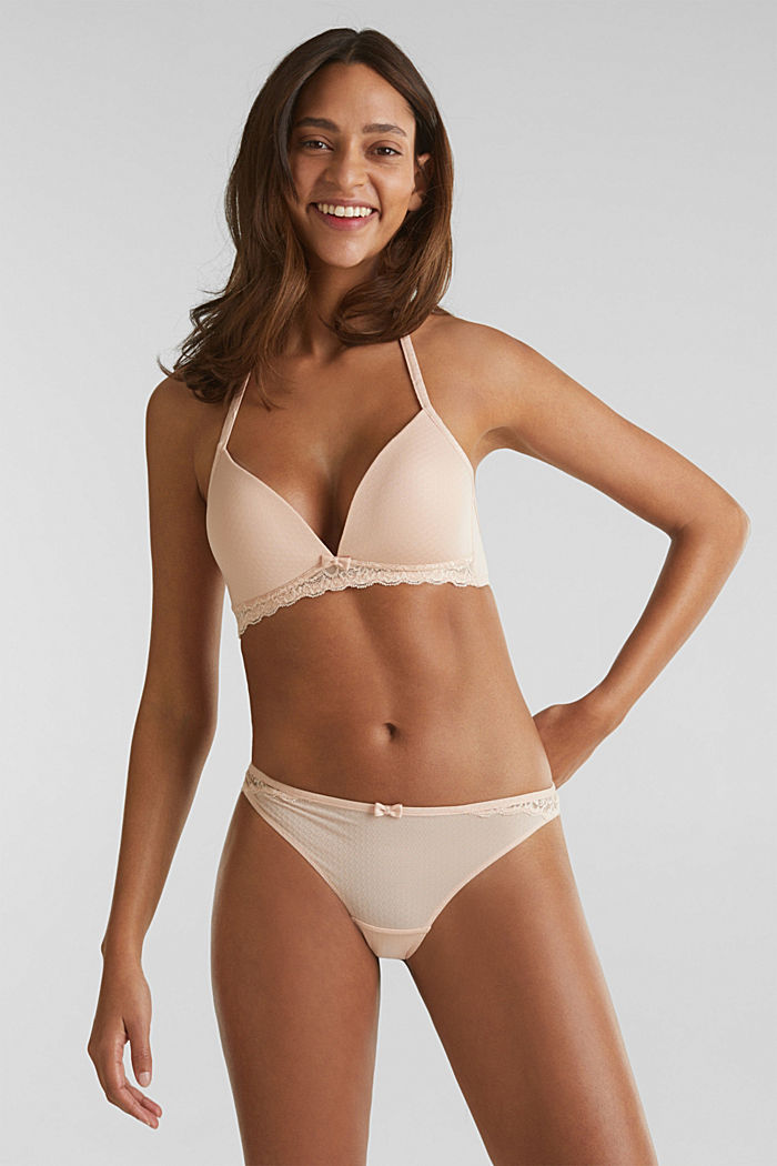 Brazilian briefs with a honeycomb texture, NUDE, detail image number 0