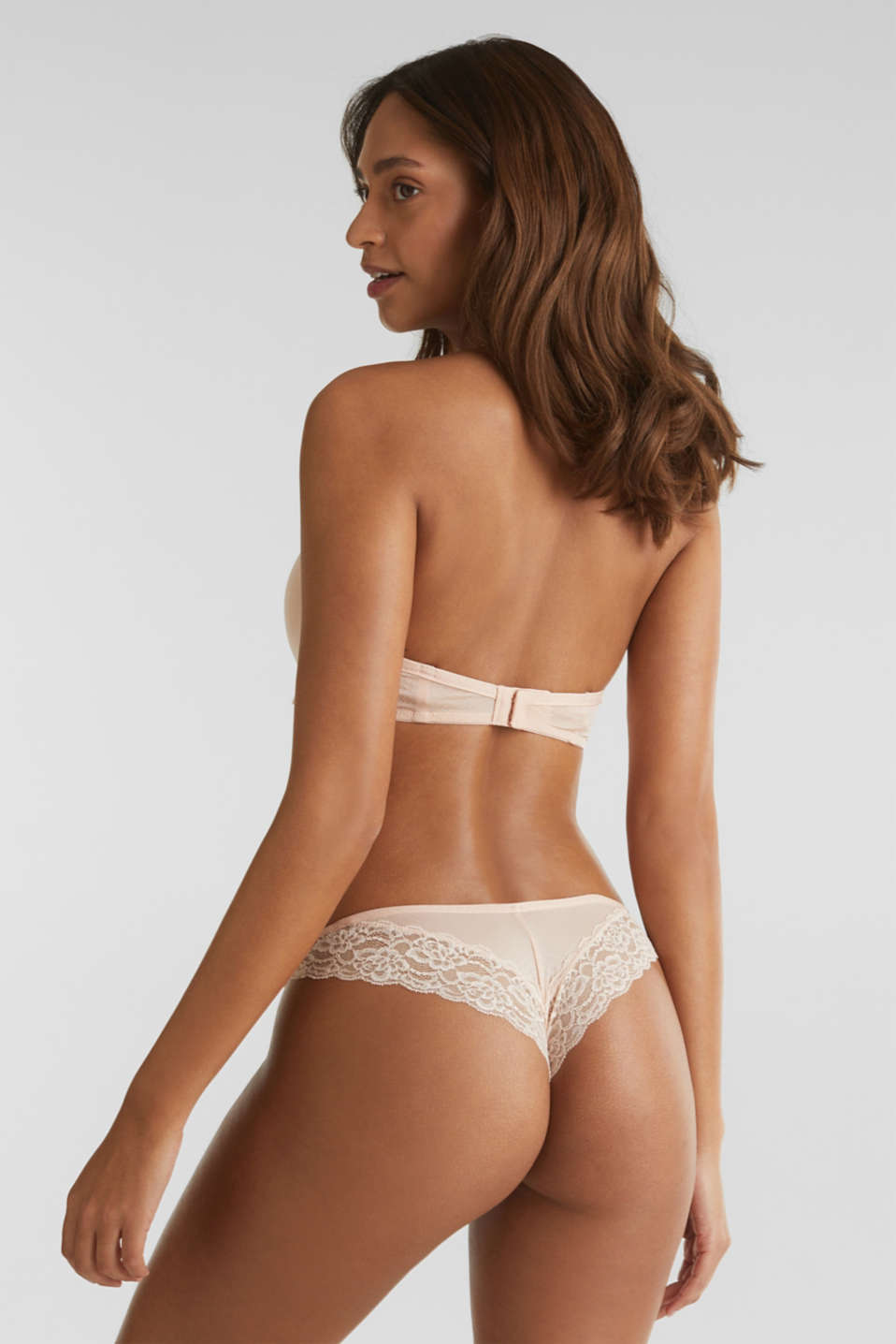 Brazilian briefs with a honeycomb texture, NUDE, detail image number 3