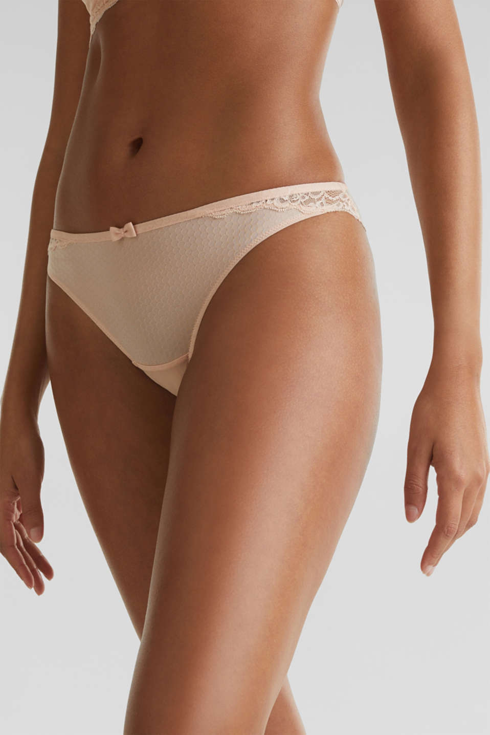 Brazilian briefs with a honeycomb texture, NUDE, detail image number 2