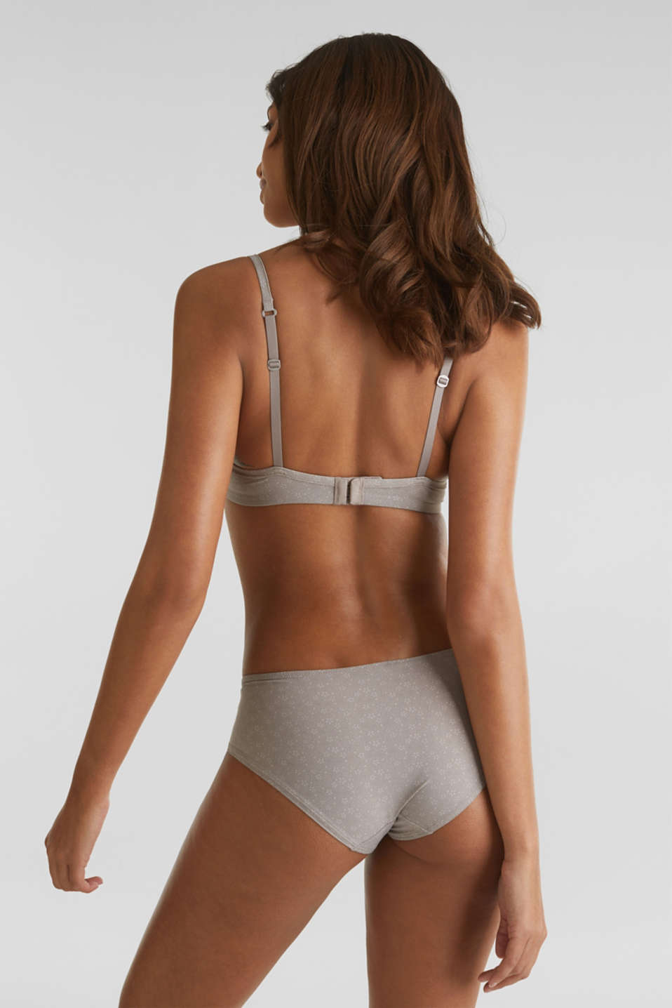 Padded underwire bra with print, TAUPE, detail image number 1