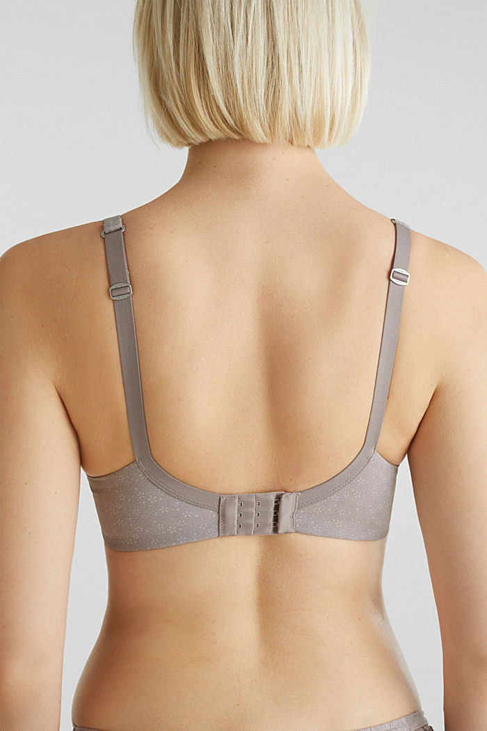 Padded underwire bra with print, TAUPE, detail image number 2