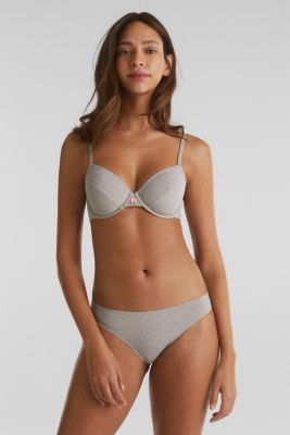 Double pack: Printed hipster briefs, TAUPE, detail