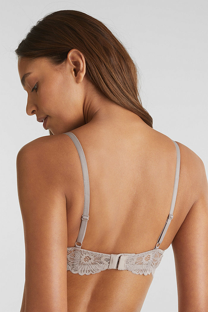 Unpadded underwire lace bra, LIGHT TAUPE, detail image number 2