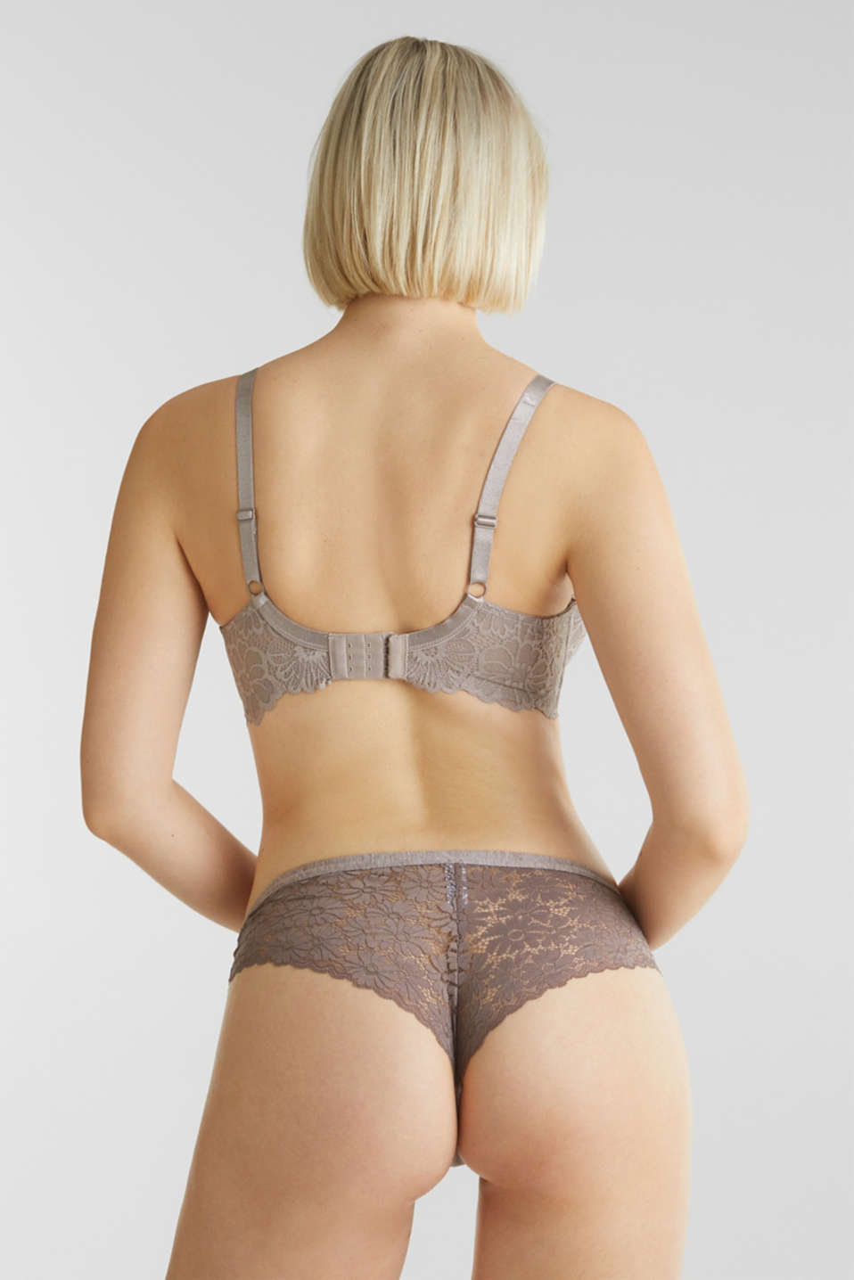 Bras with wire, LIGHT TAUPE, detail image number 1