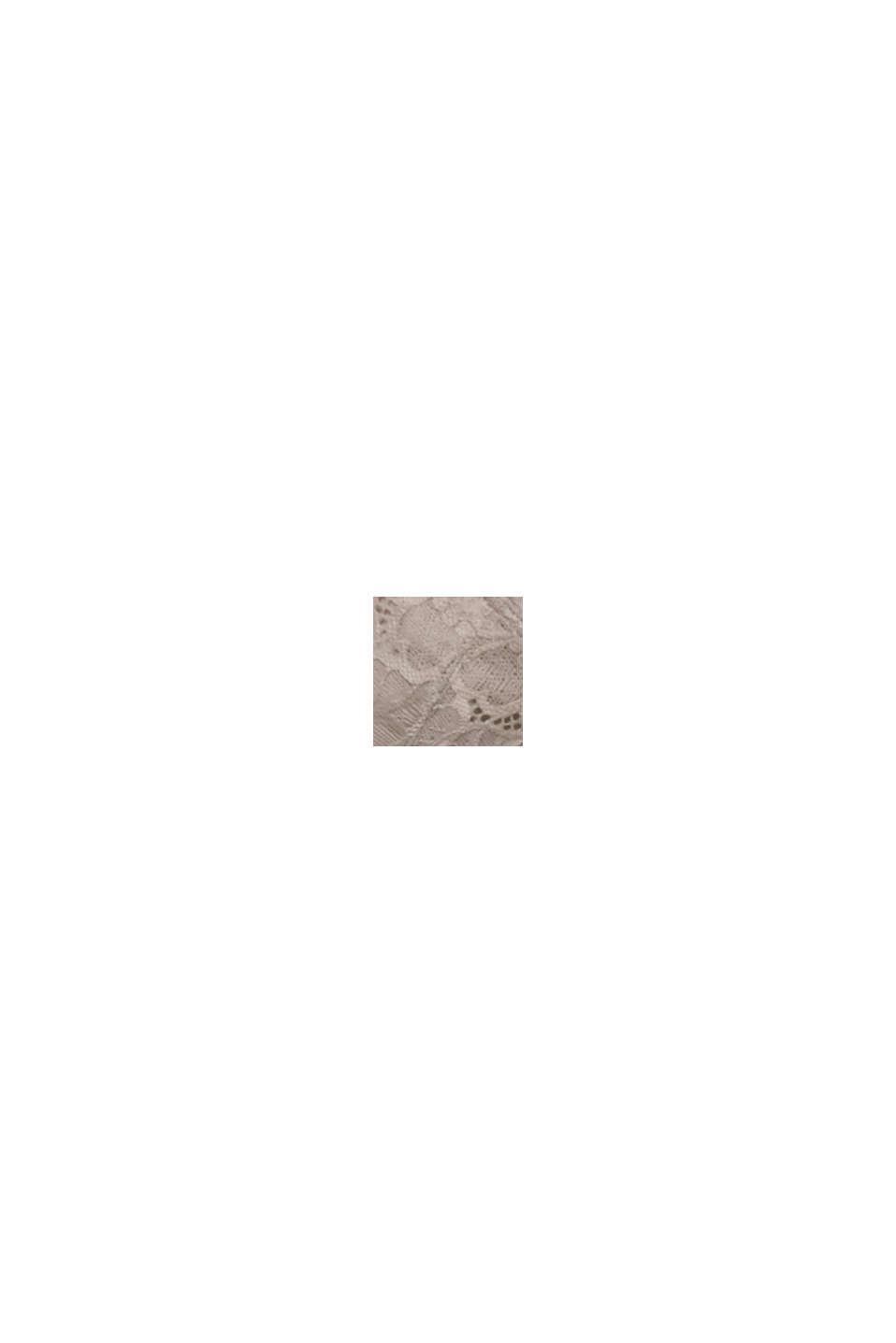 Bügel-BH aus floraler Spitze, LIGHT TAUPE, swatch