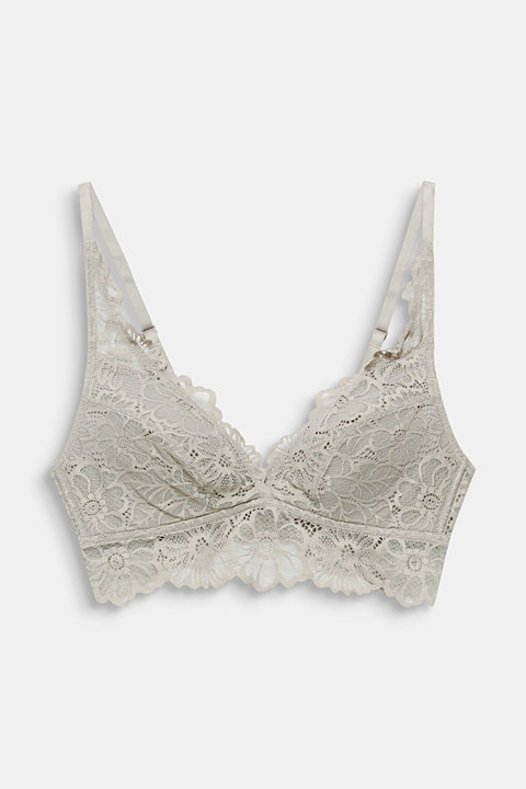 Padded non-wired lace bra