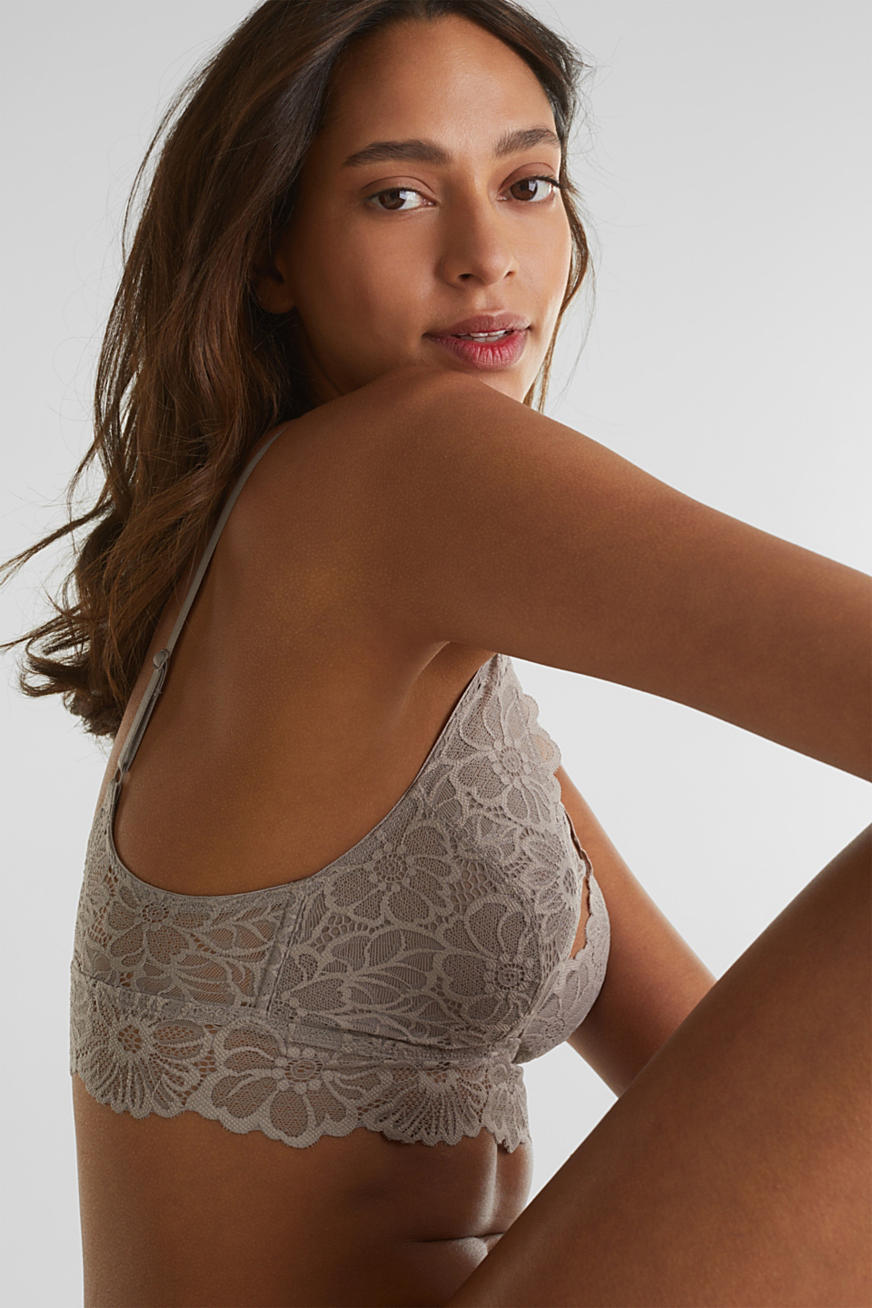 Non-wired lace bralet