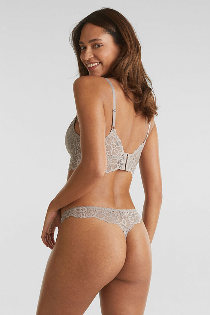 Lace hipster thong, LIGHT TAUPE, detail image number 2