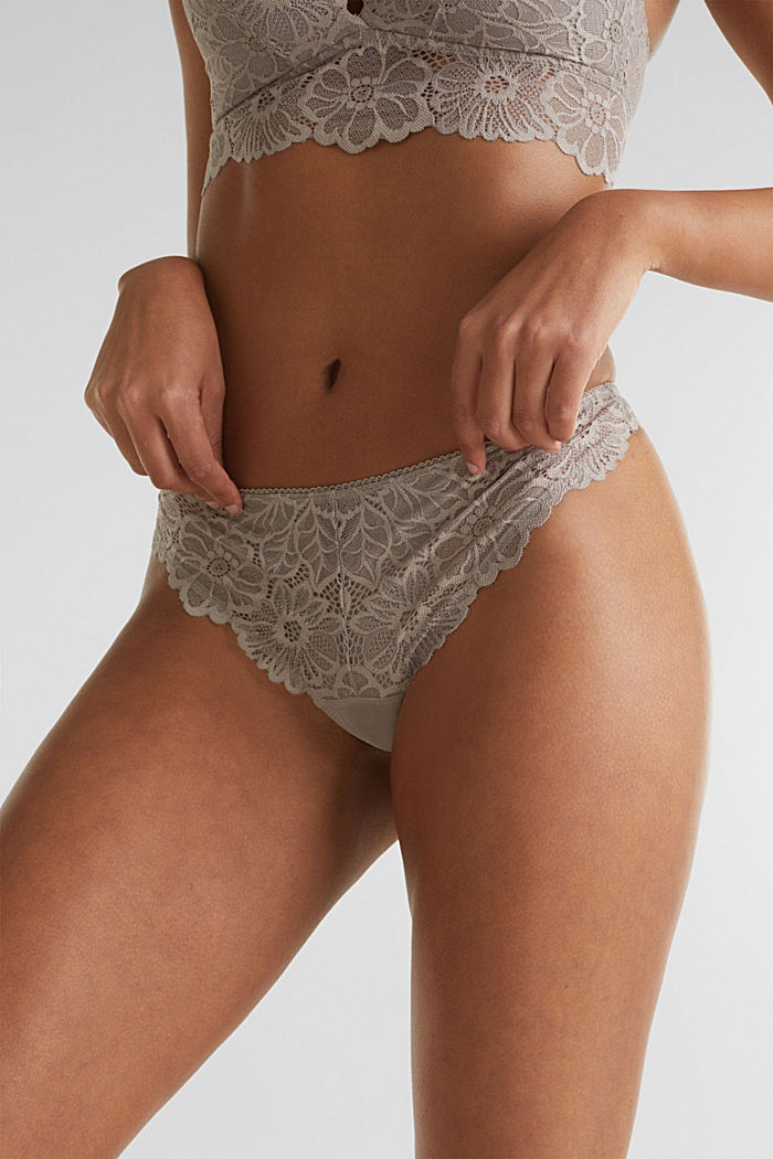 Lace hipster thong, LIGHT TAUPE, detail image number 1