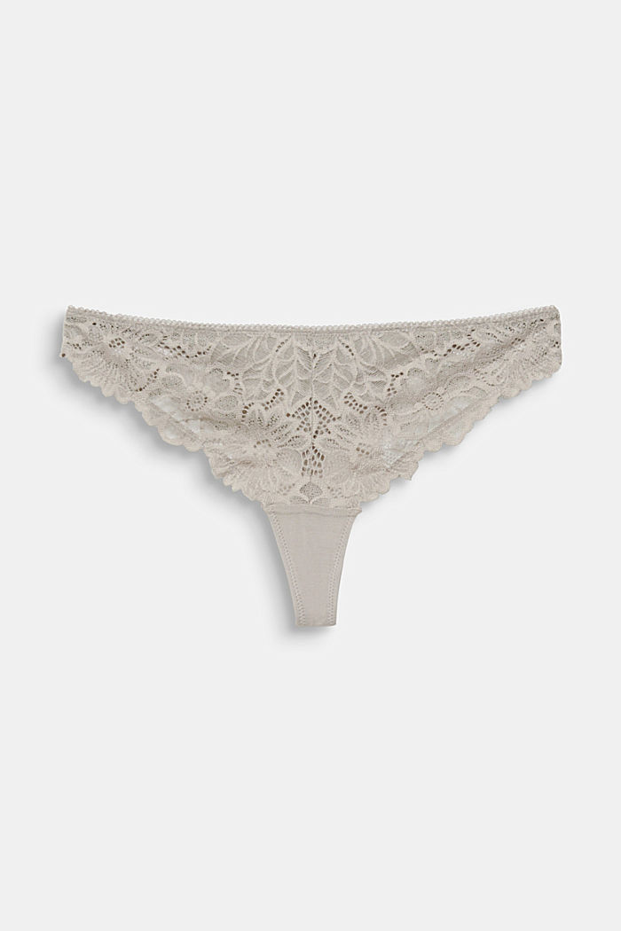 Lace hipster thong, LIGHT TAUPE, detail image number 3