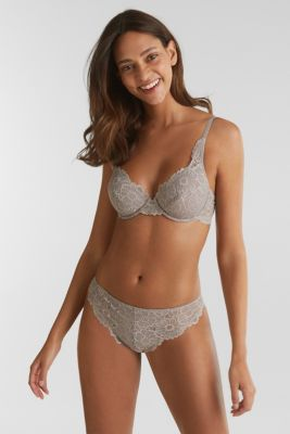 Hipster briefs in lace, LIGHT TAUPE, detail