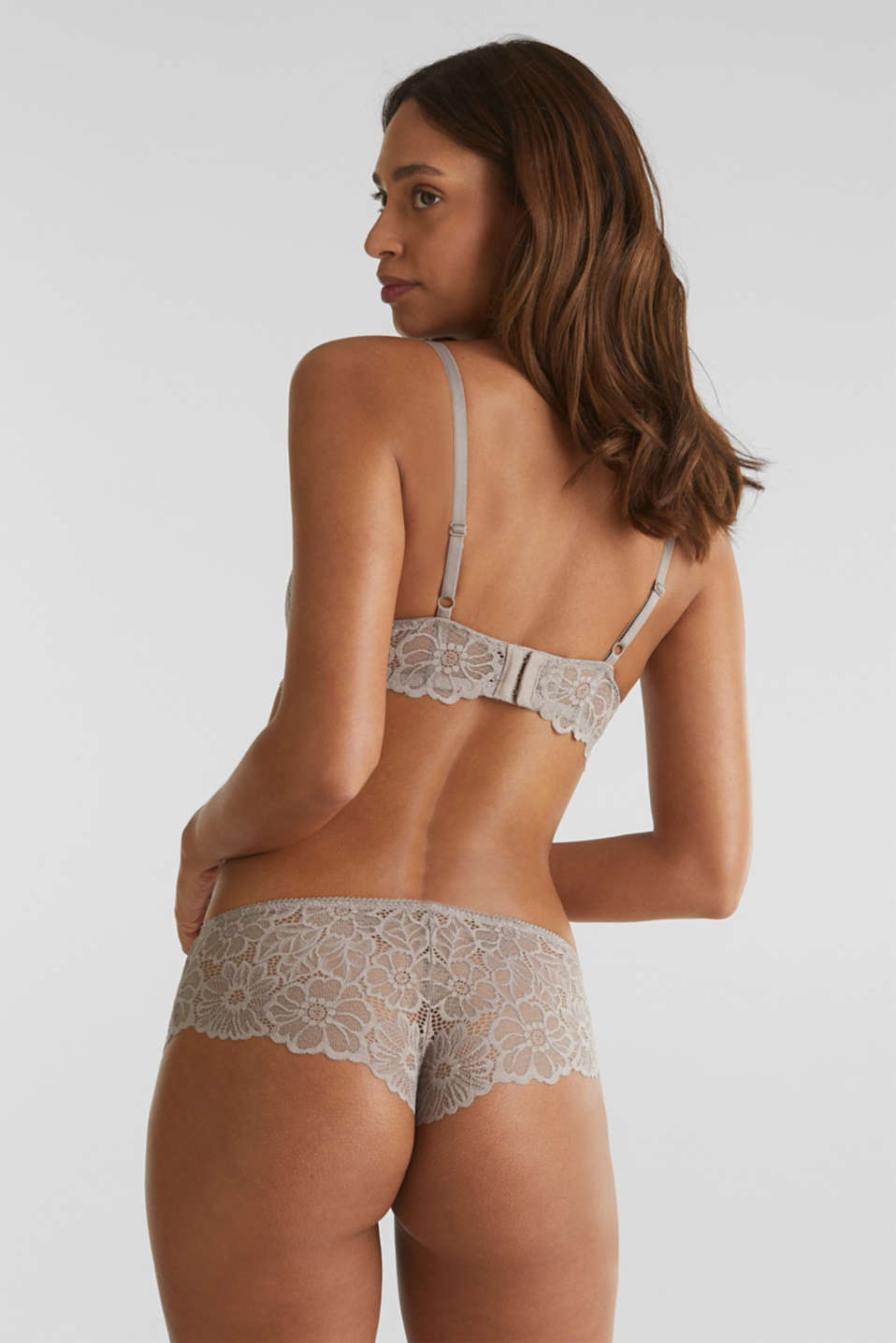 Hipster briefs in lace, LIGHT TAUPE, detail image number 2