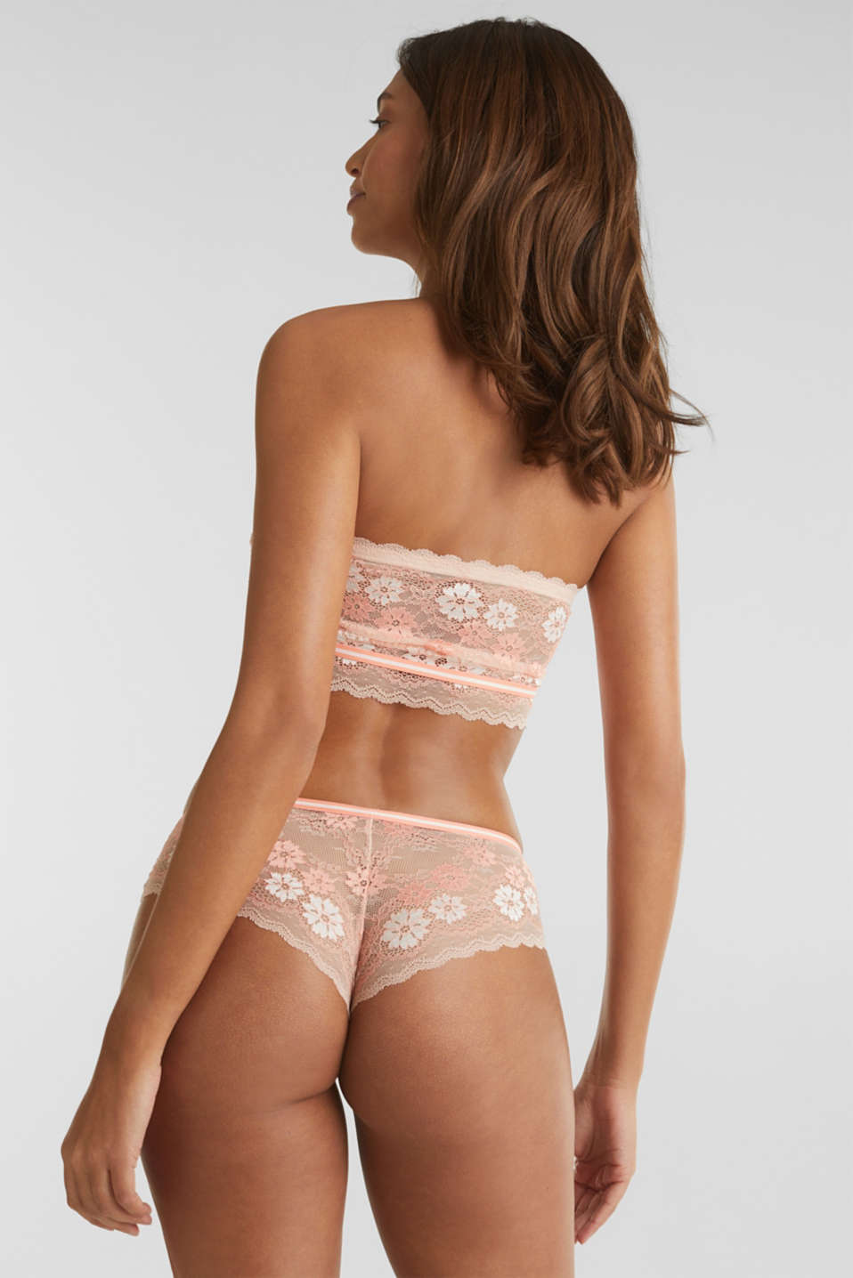 Hipster shorts in two-tone lace, NUDE, detail image number 2