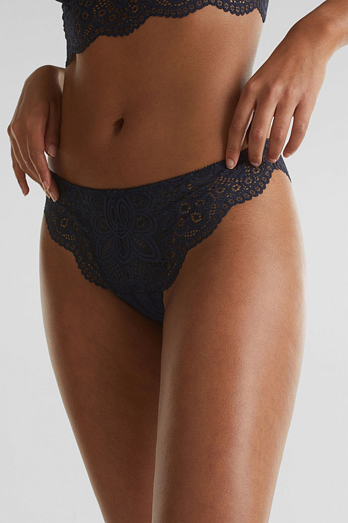 Hipster briefs in lace, NAVY, detail image number 1