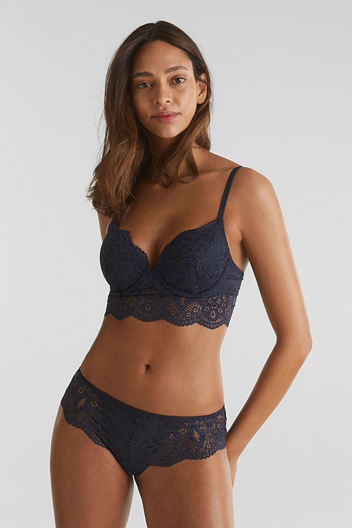 Hipster briefs in lace, NAVY, detail image number 0