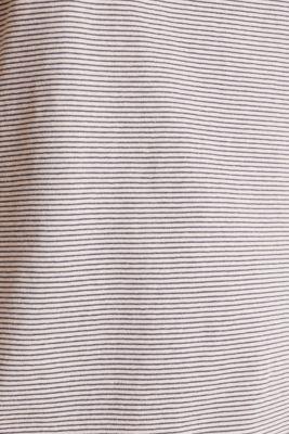 Striped jersey nightshirt, 100% cotton, ANTHRACITE, detail