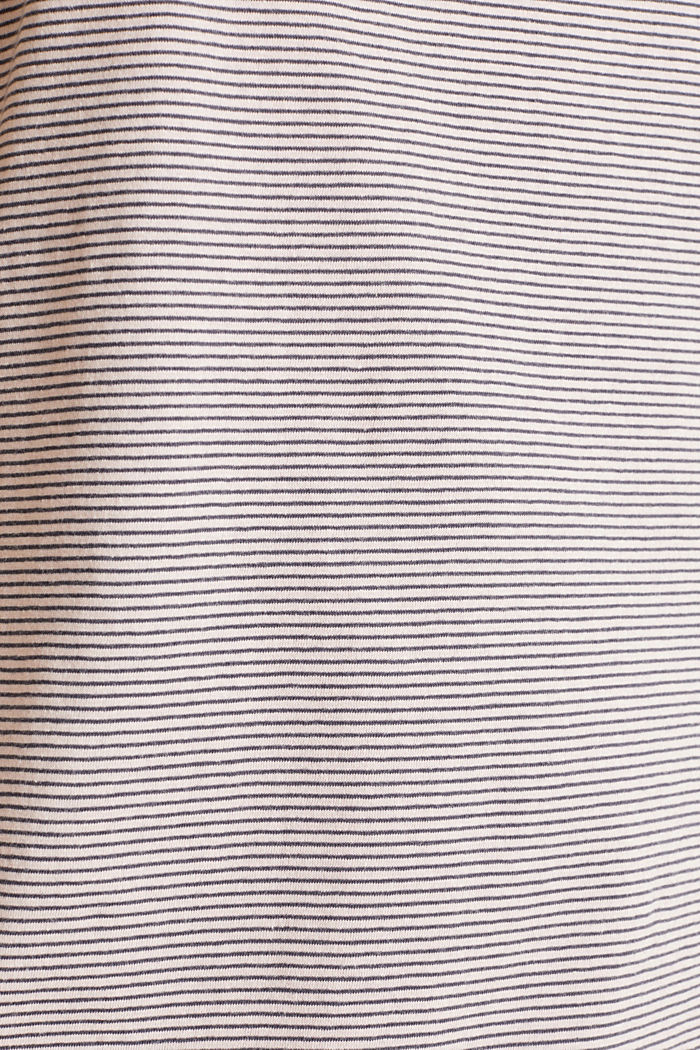Striped jersey nightshirt, 100% cotton, ANTHRACITE, detail image number 3