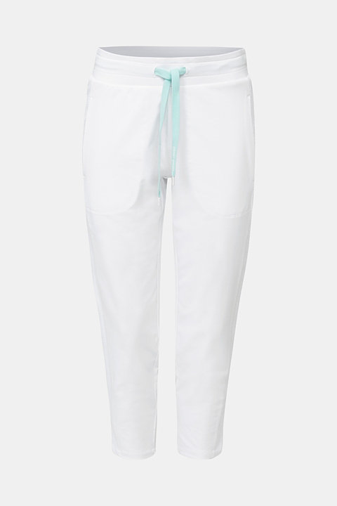 Ankle-length jersey trousers with mesh details
