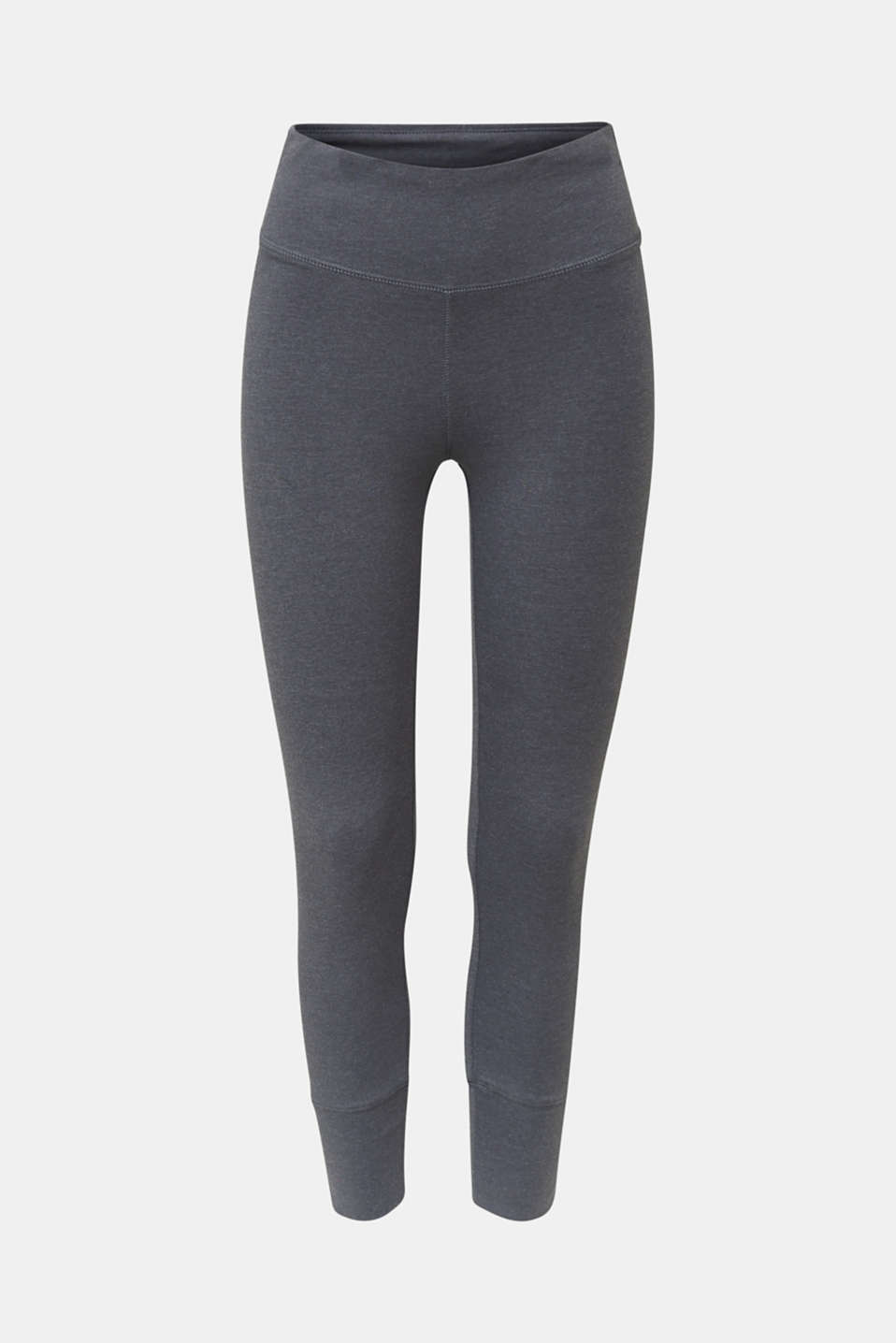 Stretch jersey trousers with a logo print, DARK GREY 2, detail image number 4