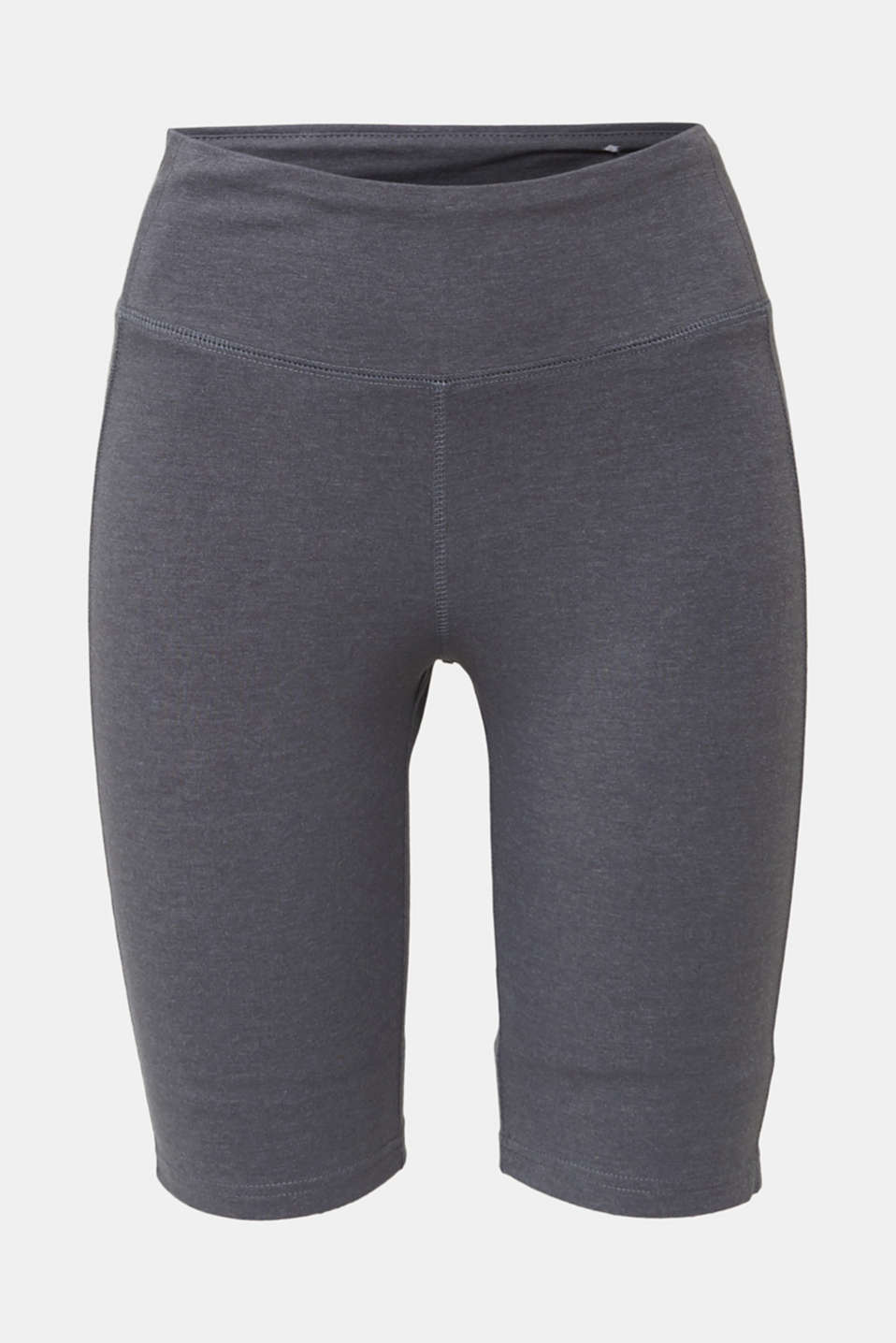 Cropped leggings with a shiny print, DARK GREY 2, detail image number 4