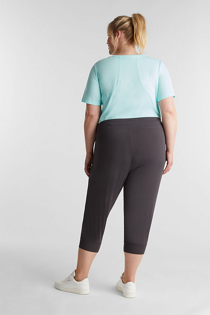 CURVY ankle-length leggings, E-DRY, ANTHRACITE, detail image number 3