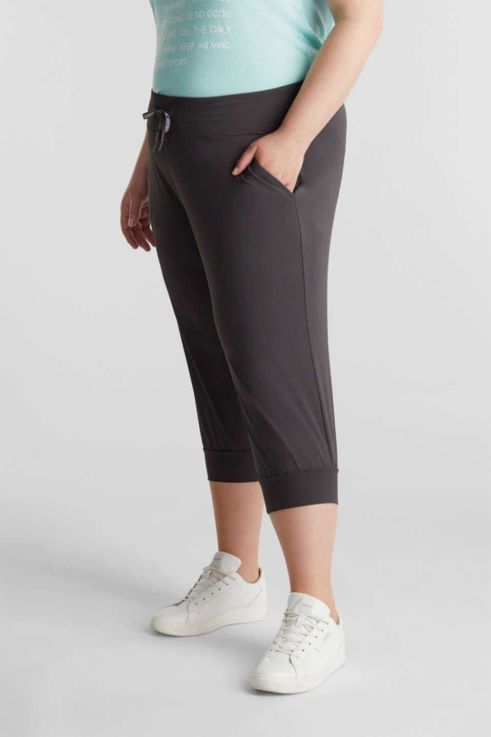 CURVY ankle-length leggings, E-DRY, ANTHRACITE, detail image number 6