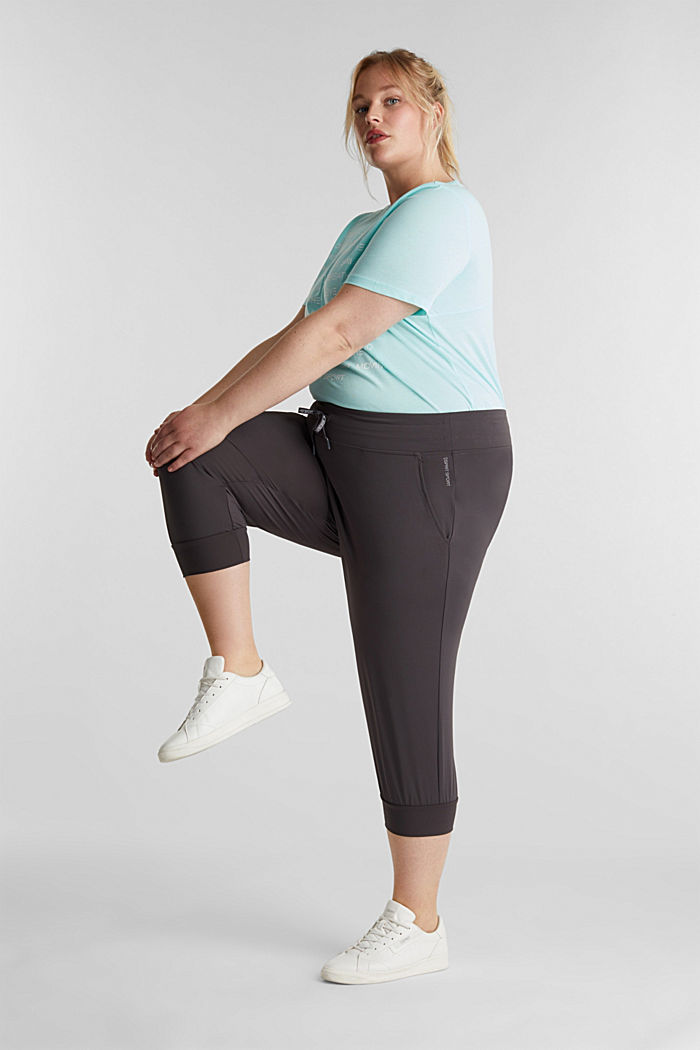 CURVY ankle-length leggings, E-DRY, ANTHRACITE, detail image number 1