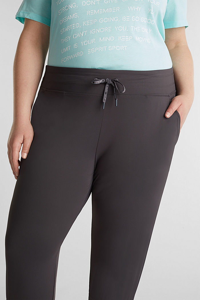 CURVY ankle-length leggings, E-DRY, ANTHRACITE, detail image number 2
