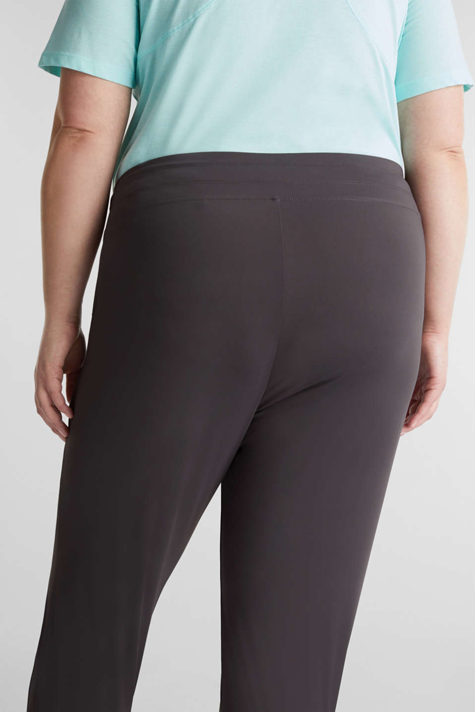 CURVY ankle-length leggings, E-DRY, ANTHRACITE, detail image number 5