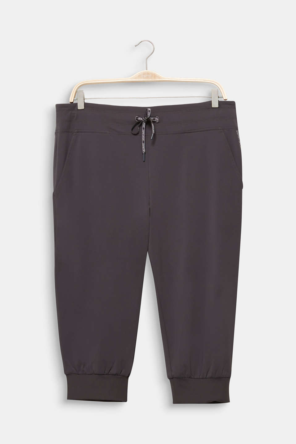 CURVY ankle-length leggings, E-DRY, ANTHRACITE, detail image number 7