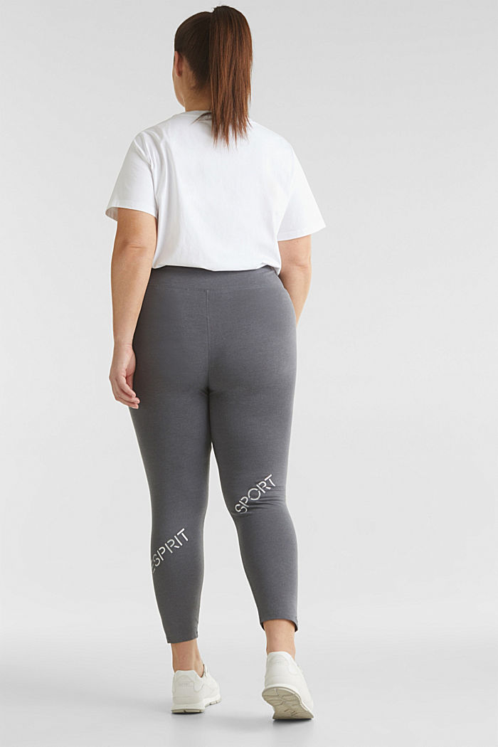 CURVY leggings with shiny statements, DARK GREY, detail image number 3