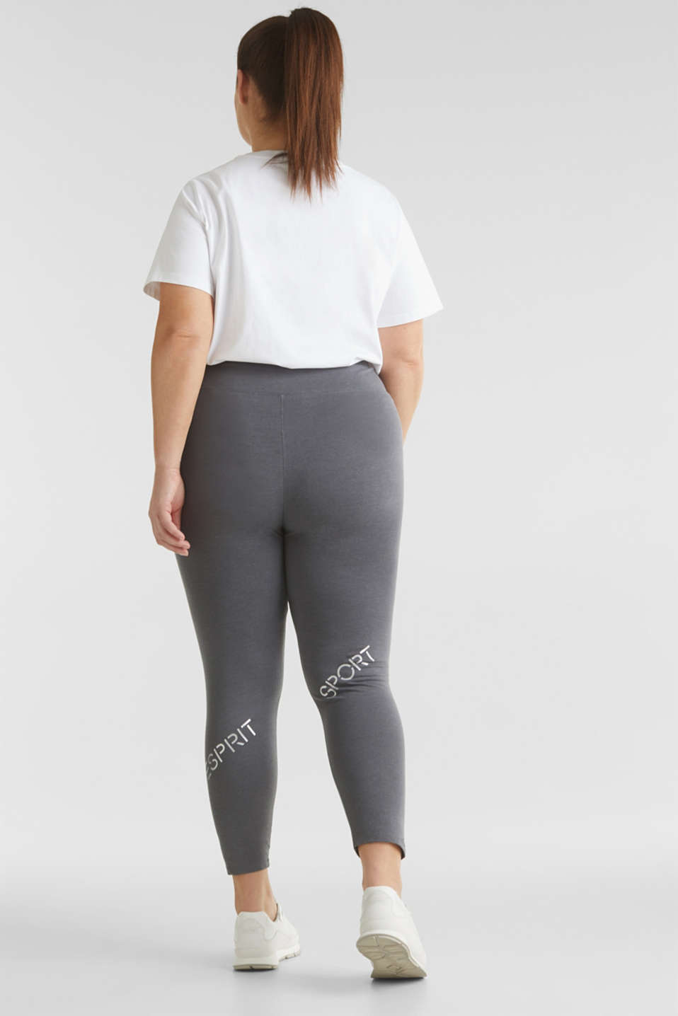 CURVY leggings with shiny statements, DARK GREY 2, detail image number 3