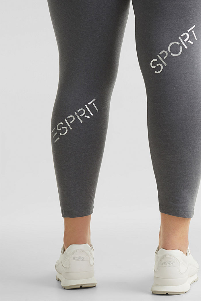 CURVY leggings with shiny statements, DARK GREY, detail image number 5