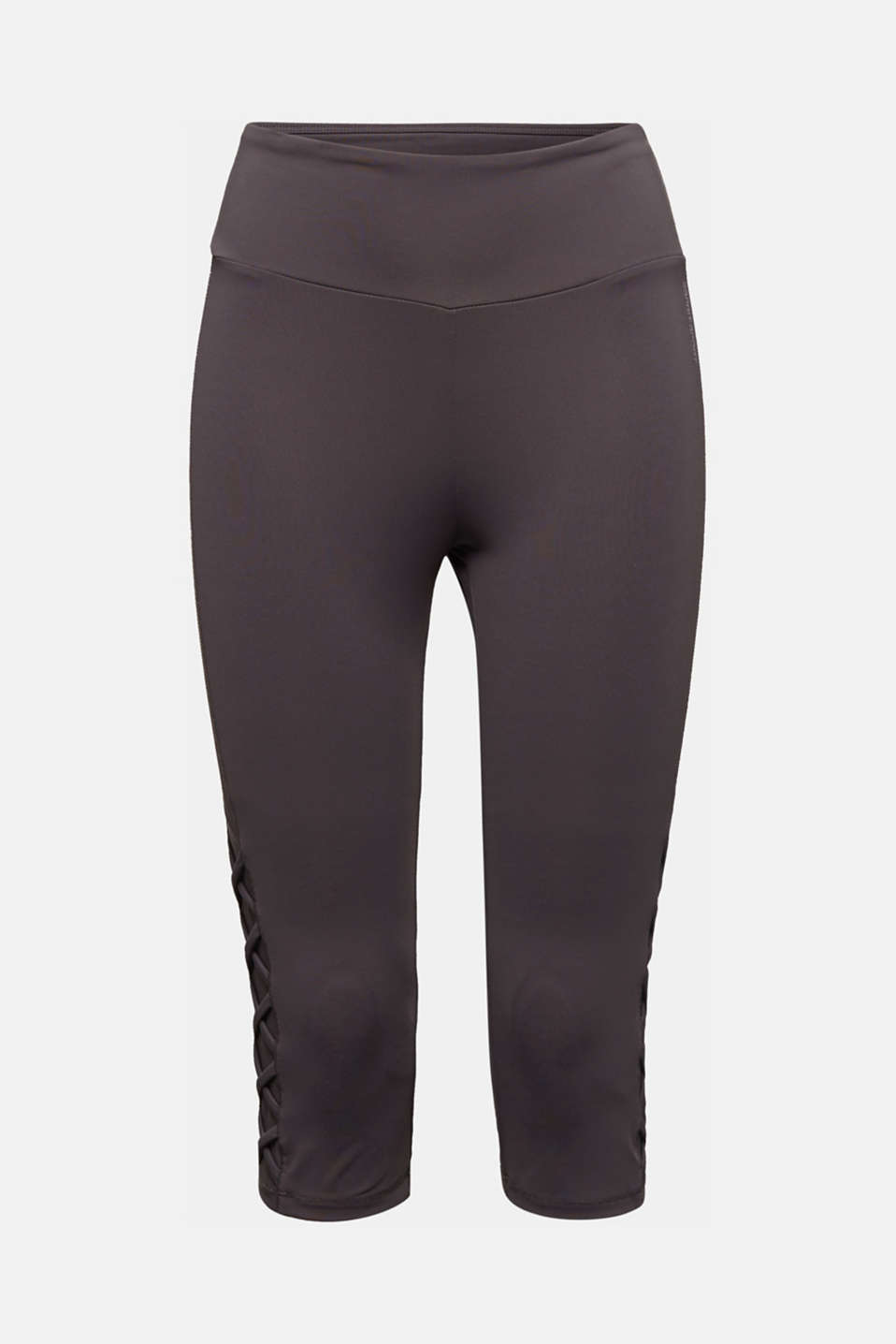 E-DRY leggings with mesh details, ANTHRACITE, detail image number 5