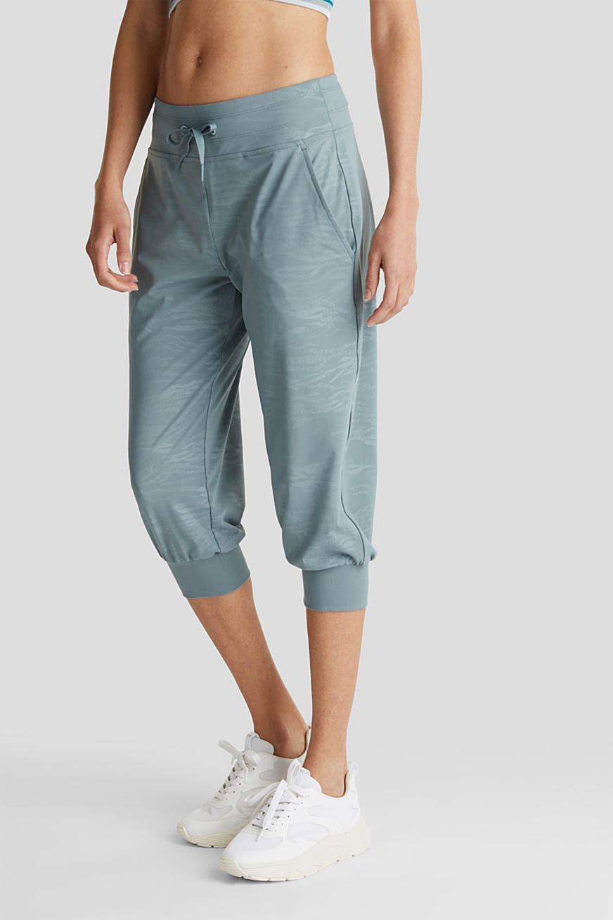 E-DRY jersey trousers with a print