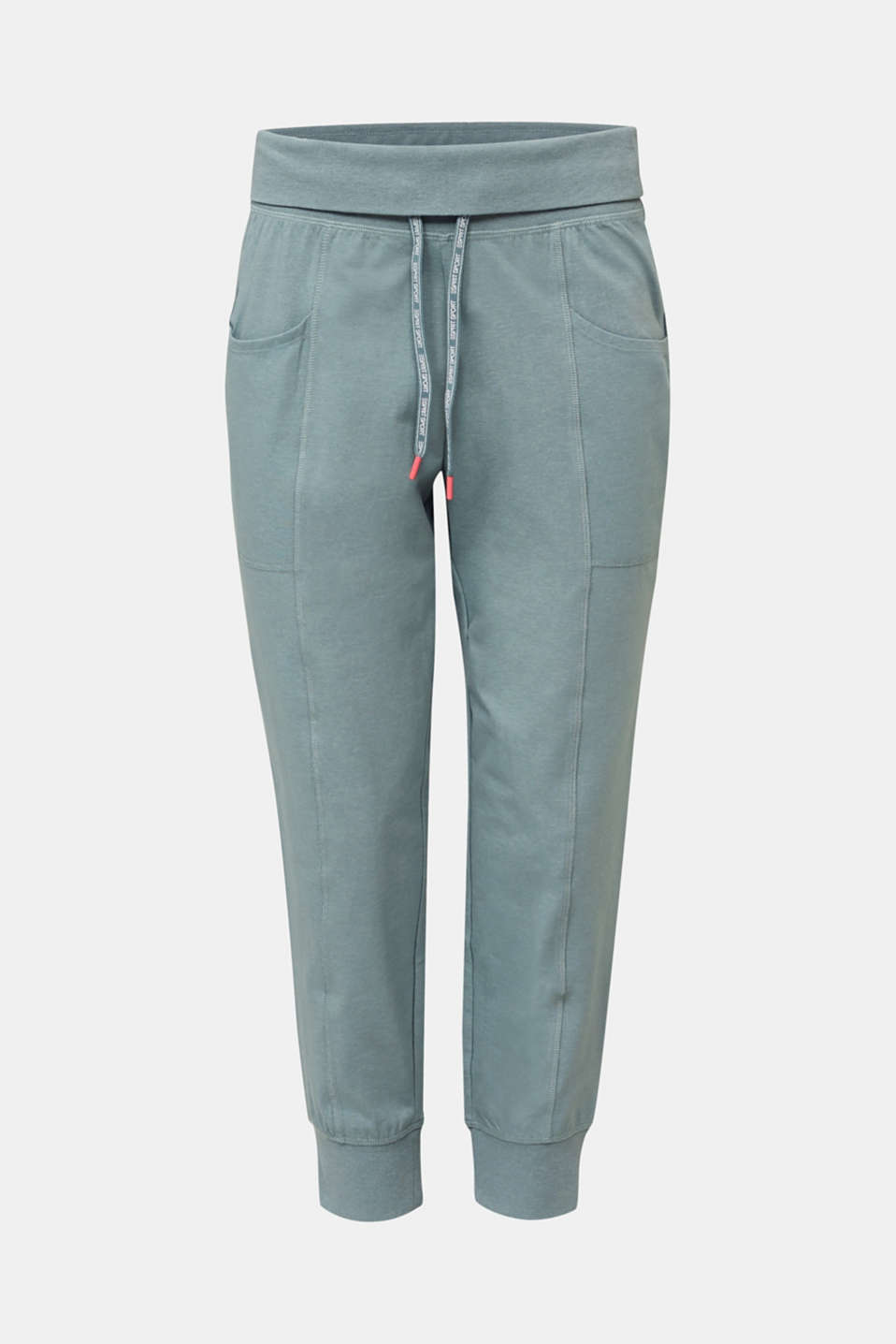 Ankle-length, jersey stretch trousers, DUSTY GREEN 2, detail image number 5