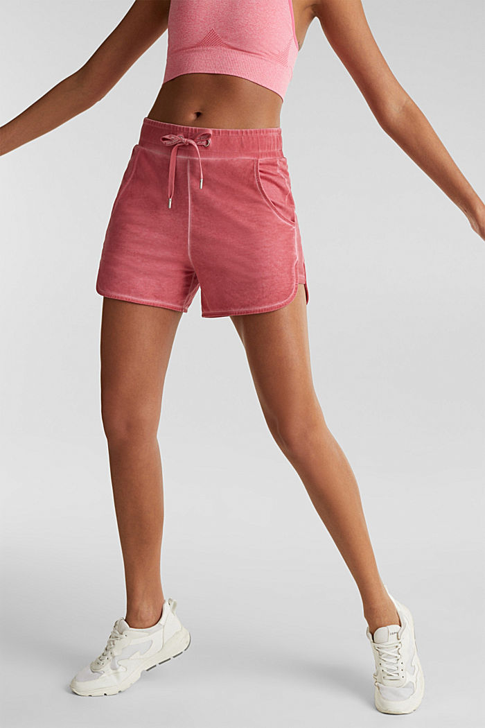 Stretch jersey shorts in a vintage look, CORAL RED, detail image number 0