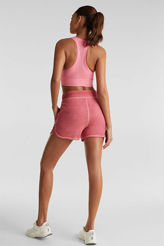 Stretch jersey shorts in a vintage look, CORAL RED, detail image number 3