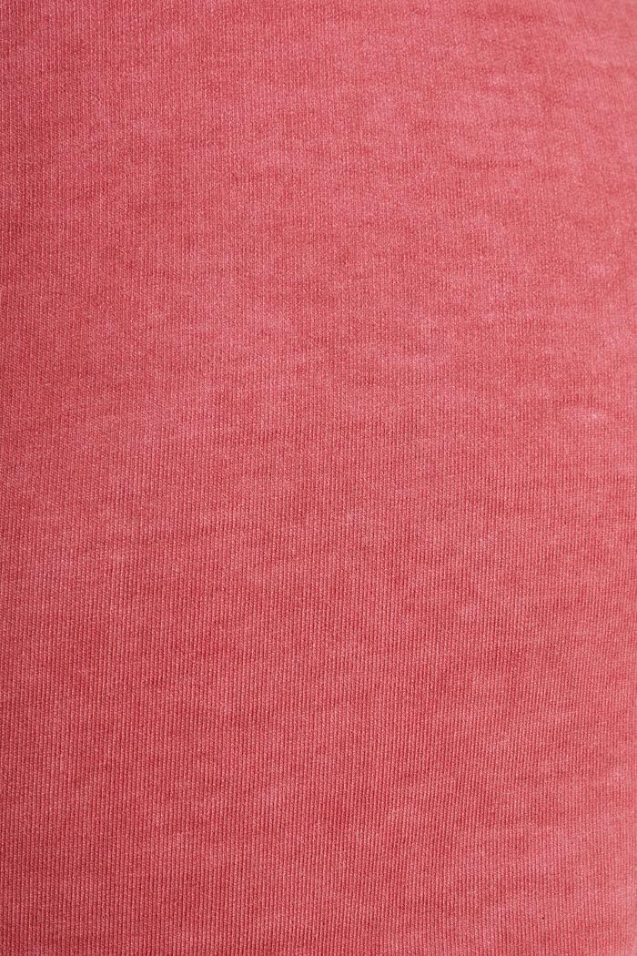 Stretch jersey shorts in a vintage look, CORAL RED, detail image number 4