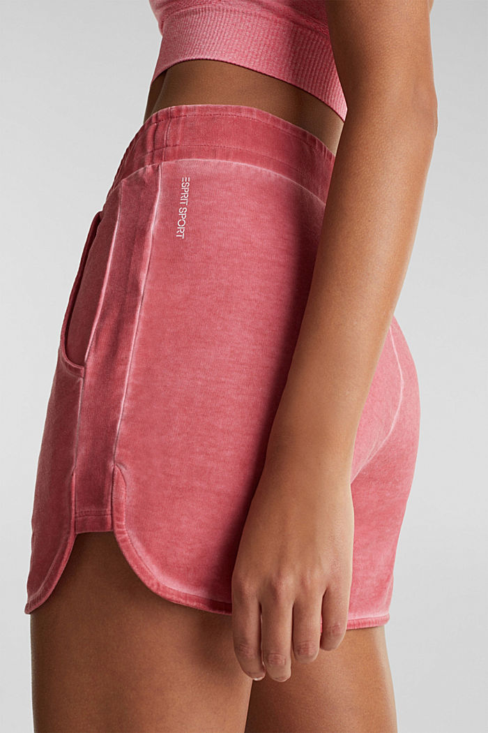Stretch jersey shorts in a vintage look, CORAL RED, detail image number 5