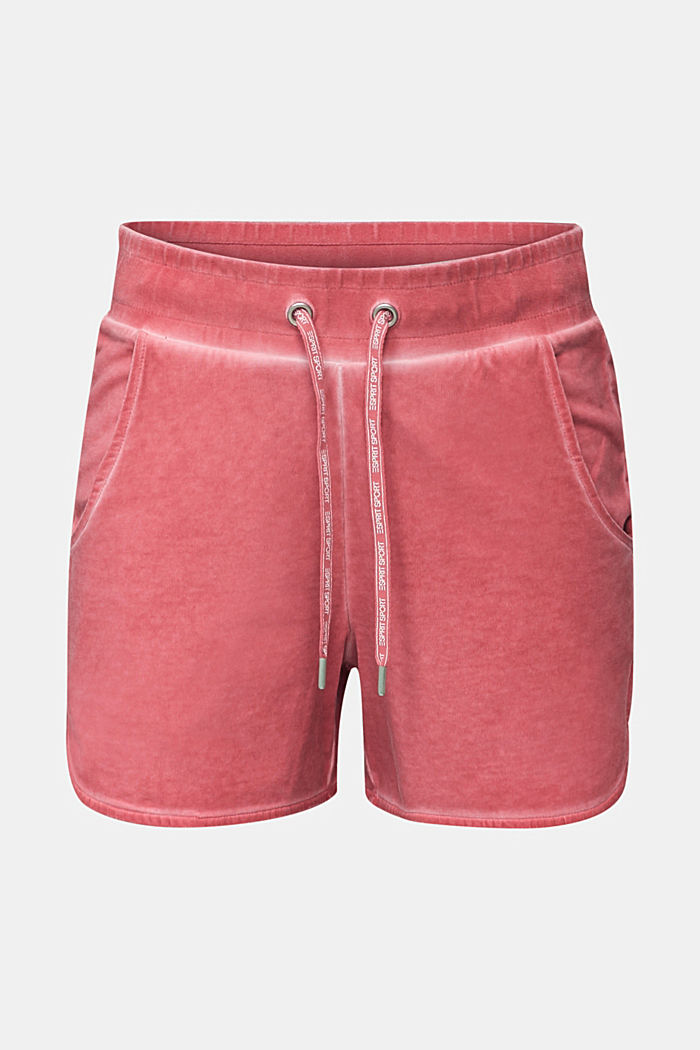 Stretch jersey shorts in a vintage look, CORAL RED, detail image number 6