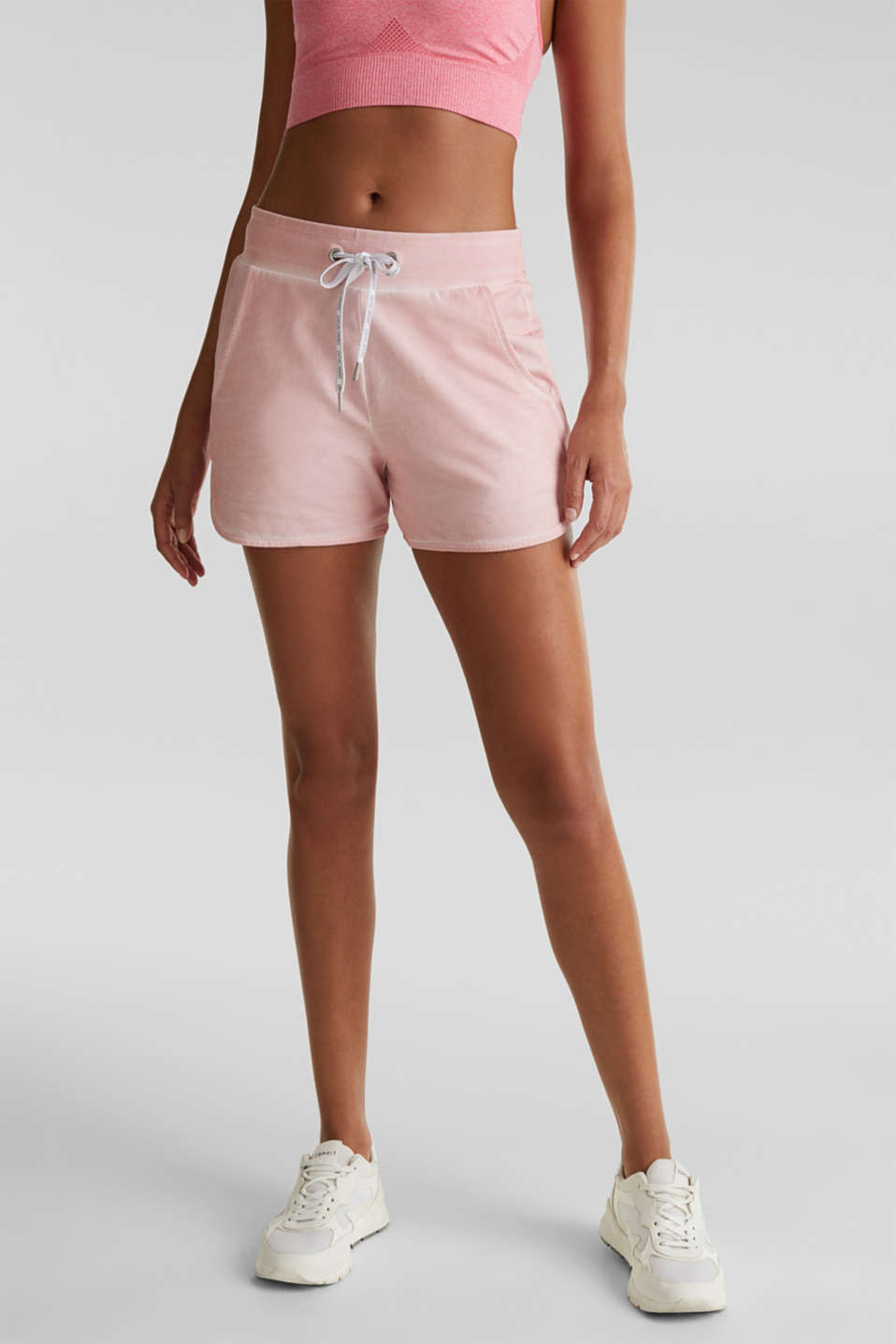 Stretch jersey shorts in a vintage look, LIGHT PINK, detail image number 5