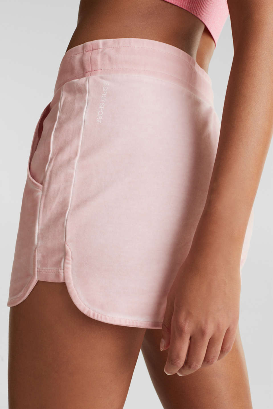 Stretch jersey shorts in a vintage look, LIGHT PINK, detail image number 4